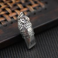 [silver] silver deer king S925 wholesale sterling silver pendant antique style female owl Guardian