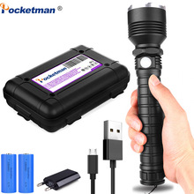 80000lumens Led flashlight XHP70.2 Most Powerful led torch USB Zoom xhp70 xhp50 18650 26650 Rechargeable Best Camping Lamp light classic black portable 5000 lumens xml t6 zoom spotlight led flashlight torch hunting tactical flashlight 18650 flashlight