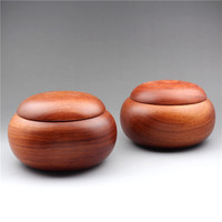 Mahogany weiqi box large weiqi pot Myanmar flower pear wood weiqi basket solid wooden food storage box tea pot