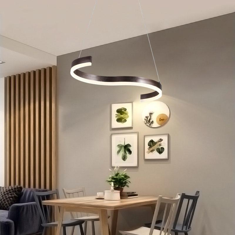 Modern led Chandelier Lighting for Kitchen Dining Room Suspension Hanging Pendant Chandeliers for Cofe Bar 85 265V Fixtures in Chandeliers from Lights Lighting