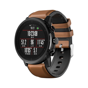 Image 3 - 22mm Watchband For Huawei Watch GT Strap Silicone Leather Bracelet For Xiaomi Amazfit Stratos/Pace For Samsung Galaxy Watch 46mm