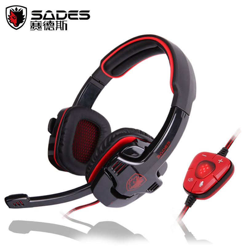 Brand Sades sa-901  USB Gaming Headset 7.1 Surround Sound Game Headphone Earphone with Microphone for PC computer Gamer  sades sa 903 7 1 surround sound over ear pc headset gaming headphone usb game earphone with mic volume led lighting for computer