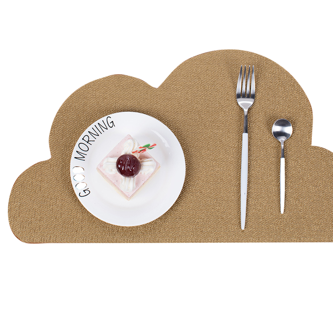 Cute PVC Placemat Dining Mat Baby Kids Cloud Shaped Plate Mat Table Mat Drink Coasters Waterproof Set Home Kitchen Pads 45x30cm