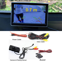 3 In 1 Car Parking Camera Distance Display IP67 Waterproof Car Parking System with 2 Sensors Car Radar Sensor стоимость