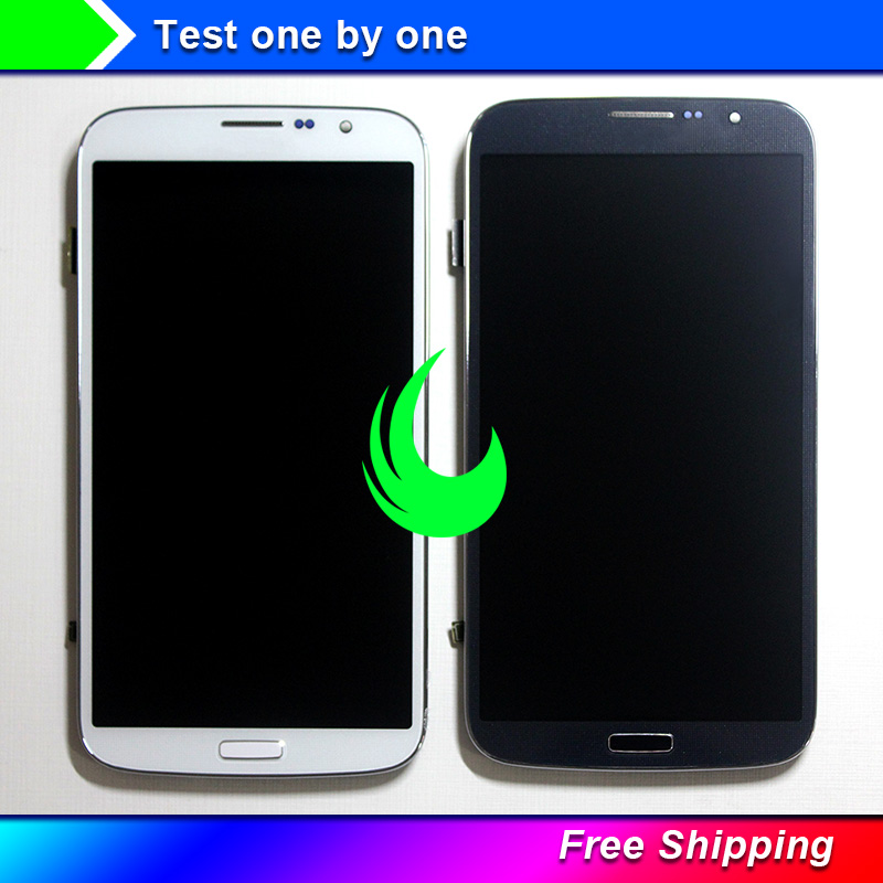 Original Quality For <font><b>Samsung</b></font> Galaxy Mega 6.3 <font><b>i9200</b></font> i9205 LCD Display Touch Screen Digitizer With Bezel Frame Assembly Free Track image