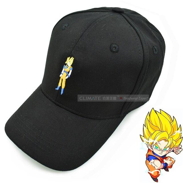 Dragon Ball Z Goku Bone Black Truck Cap