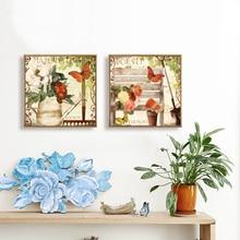 2 piezas de jarrón de Bodegón moderno barato Vintage decoración del hogar lienzo pintura arte en la pared imágenes para sala de estar
