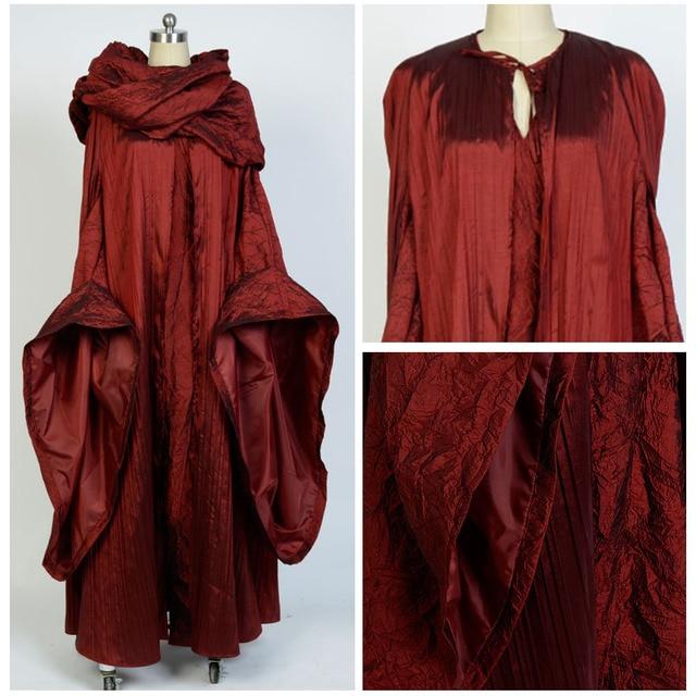 Game of Thrones Costume Vestito Melisandre Costumi Cosplay Vestiti Delle  Donne Del Capo Della Sciarpa Del 311639bf84f