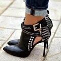 Обувь женщина блестка женщин насосы высокие каблуки chaussure femme острым носом кристалл стилет Классический сапоги горный хрусталь плюс размер