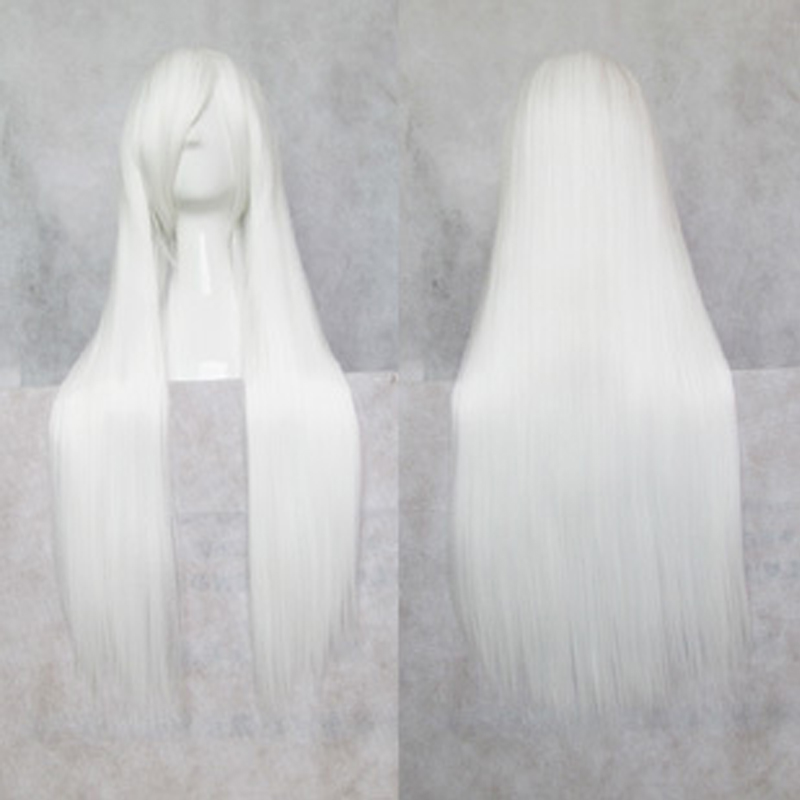 Suigintou Wigs 80cm White Long Straight Hair Cosplay Costume Wig + Wig Cap