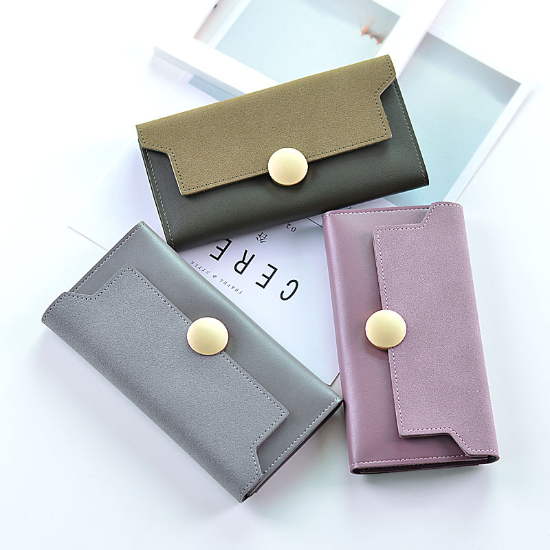 2018 Wallet Women Luxury Female Carteira Feminina Long Wallets Ladies PU Leather Zipper Purse Card Holders Clutch Money Bag