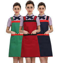 SenYue Catering Anti-Fouling Women Man Kitchen Accessories Apron With Pockets Craft Baking Chefs Kitchen Cooking BBQ(China)