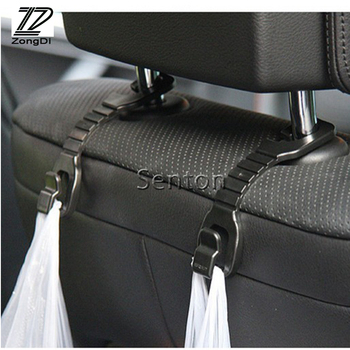 ZD 2pcs Car-styling For Skoda Octavia A5 A7 2 Fabia Yeti BMW E60 F30 X5 E53 Inifiniti q50 FX35 Car Back Seat Holder Hooks Cover image