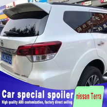 Terra big ABS material high quality rear window roof wings spoiler for nissan 2018 by primer paint or DIY color