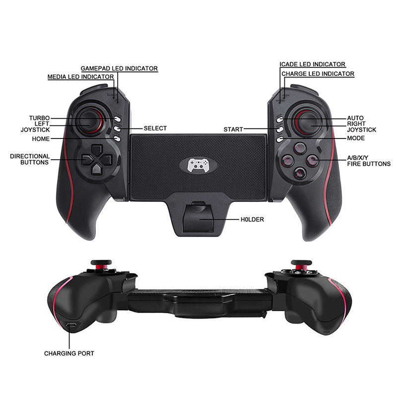 BTC-938 Game controller Portable Wireless Bluetooth Telescopic Gamepad Game Controller Joysticks for Android Tablet Mobilephone