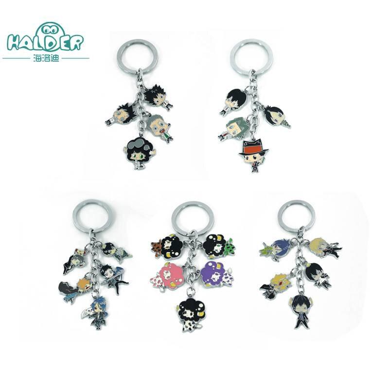 Halder HITMAN REBORN Figures Cosplay Key Chains Keyring Round Trinkets Accessories Sawada Tsunayosh Gokudera Hayato Keychain ...