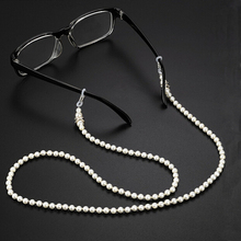 1 шт., Новое поступление, цепочка для солнцезащитных очков, для ношения на шее, с бисером, шнурок, жемчужный бисер, цепочка для очков для чтения