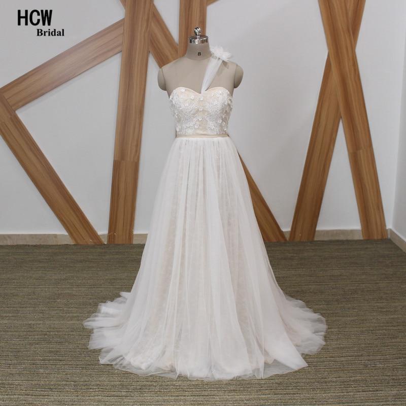 Beach Wedding Dresses 2019 Strapless Low Back One Shoulder ...