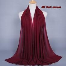 23 Colors Women High Quality Bubble Chiffon Print Solid Color Instant Shawls Beach Hijab Foulard Muslim Scarves/scarf 180*75Cm