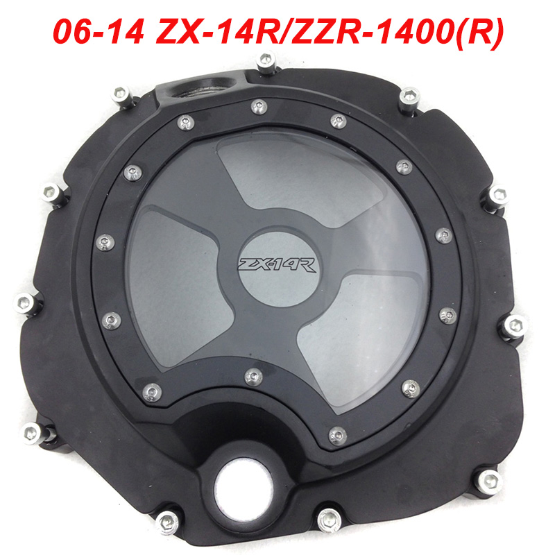 For 06-14 Kawasaki ZX14R ZX 14R ZZR 1400 Engine Stator Crank Case Cover Engine Guard Protection Side Shield Protector 2006-2014 free shipping motorcycle parts engine clutch cover see through for kawasaki zx14r zzr1400 2006 2013 black right