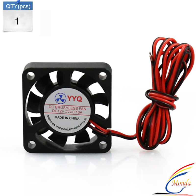 Free Shipping 1 Pcs 3D Printer Kit Parts 40*40 DC 12V 0.1A  Fan For MakerBot RepRap UP Mendel I3 Printer