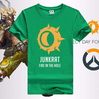 HOT Watchman Game T Shirt JUNKRAT Fire In The Hole Tee Shirt For Men Various Colors