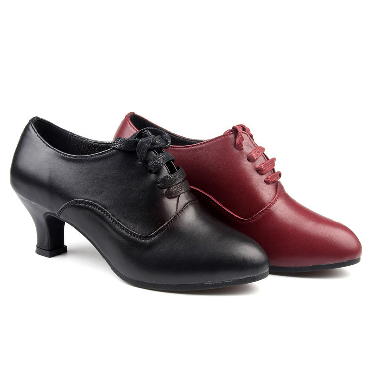 Adult Female Latin Shoes Woman With Leather Shoes sSports Soft Bottom Shoes Square Dance Modern Dance Shoes Four Friendship latin canvas dance women shoes female adult social modern shoes with leather soft soled shoes women square dance shoes