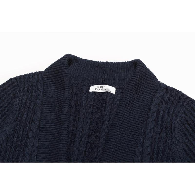 Enjeolon top marque automne hiver cardigan tricoté Pulls homme - Vêtements pour hommes - Photo 3