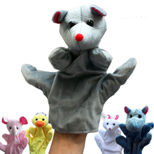 1 PCS Cute Cartoon Animal Plush Hand Puppets for Kids Large Infantil Fun Glove Finger Doll Toy Baby Babe Rabbit Mice Hippo Duck
