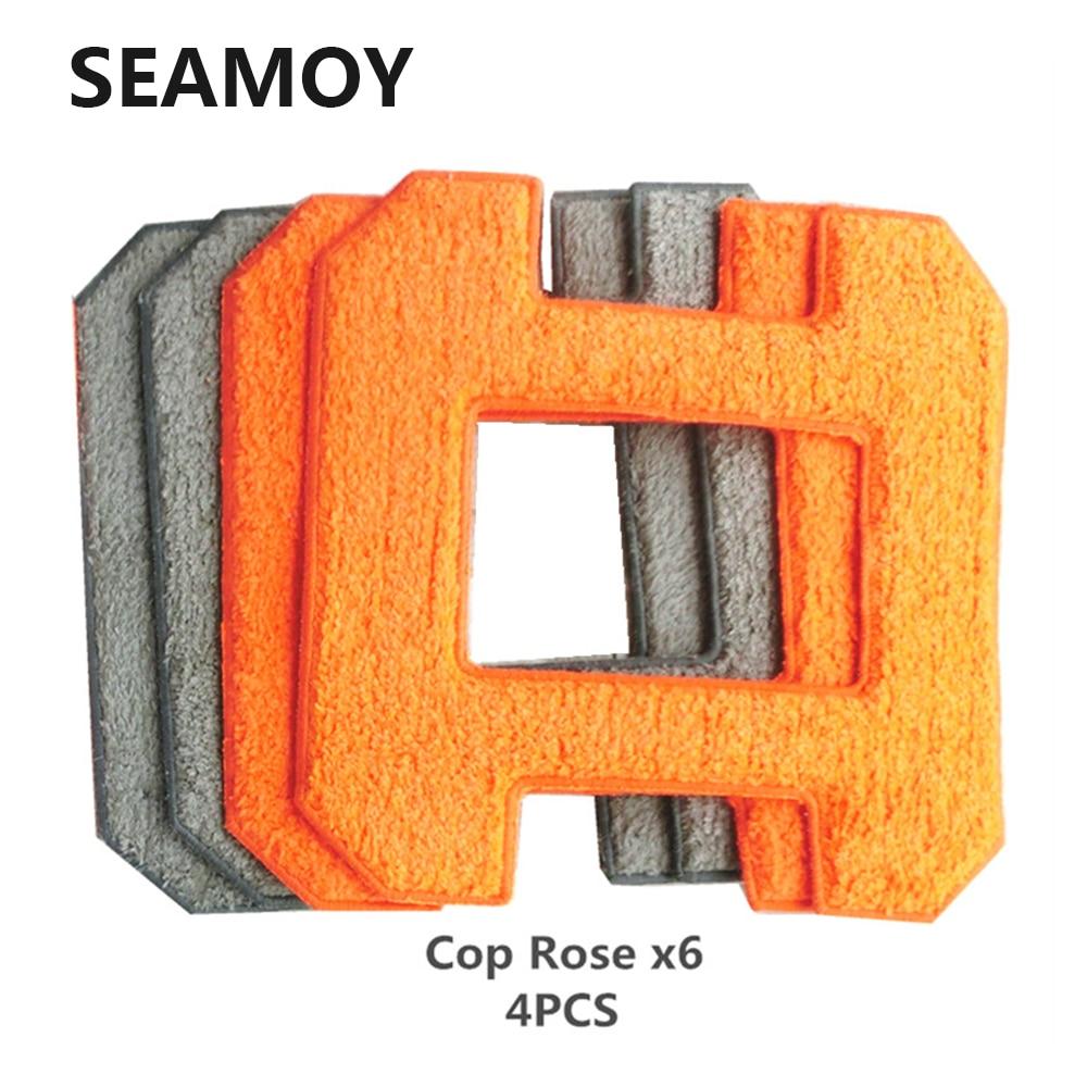 Seamoy Fenêtre De Nettoyage Robot Fiber Essuyant Chiffons 4 pcs Pour Fenêtre De Nettoyage Vide Robot X6