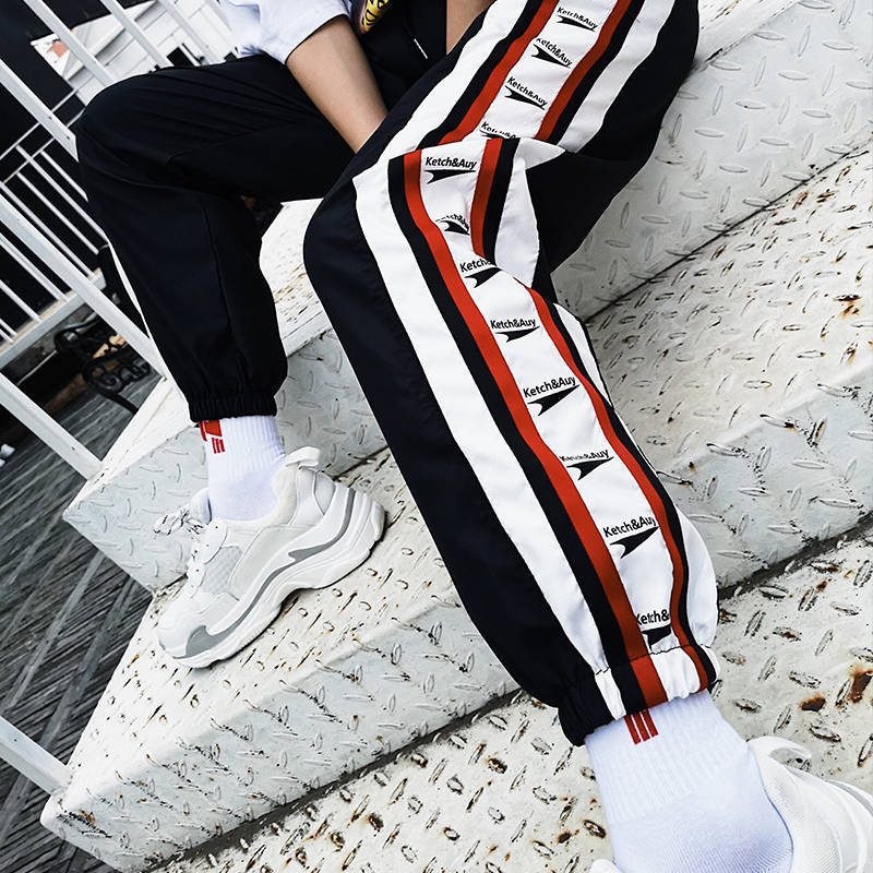 New Female Hip Hop High Waist Harem Pants Women Slim Letter Print Pants Hip Hop Sweetwear Trouser Womens Cool Jogger Trousers