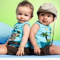 Newest Summer Toddlers Outfits Clothes Boy's Coconut Tree Pattern Sleeveless Tops Pants 1-3Y