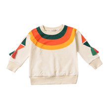 Baby Girls T-shirt Children Clothing For Boys Long Sleeve Tops Tee Rainbow Printing Toddler Kids Clothes T Shirts 1-5Y TP19002 t shirts frutto rosso for girls and boys sm117k021 top kids t shirt baby clothing tops children clothes