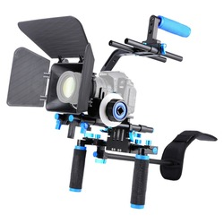 Professional 5 in1 DSLR Rig Kit Shoulder Video Camera Stabilizer Support Cage/Matte Box/Follow Focus For Canon Nikon Sony Camera