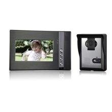 (1 Unidades) acceso Alambre uno a una versión de La Noche Videoportero cámara CMOS Lente de 7 pulgadas en color TFT-LCD de pantalla de tarjetas RFID desbloquear