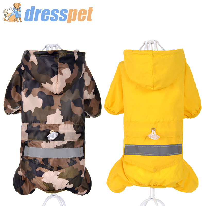 High Quality Pet Dog Raincoat Waterproof Polyester Rain Coat Jacket S-XXL Clothes For Chihuahua Small Medium Dogs Puppy DRESSPET