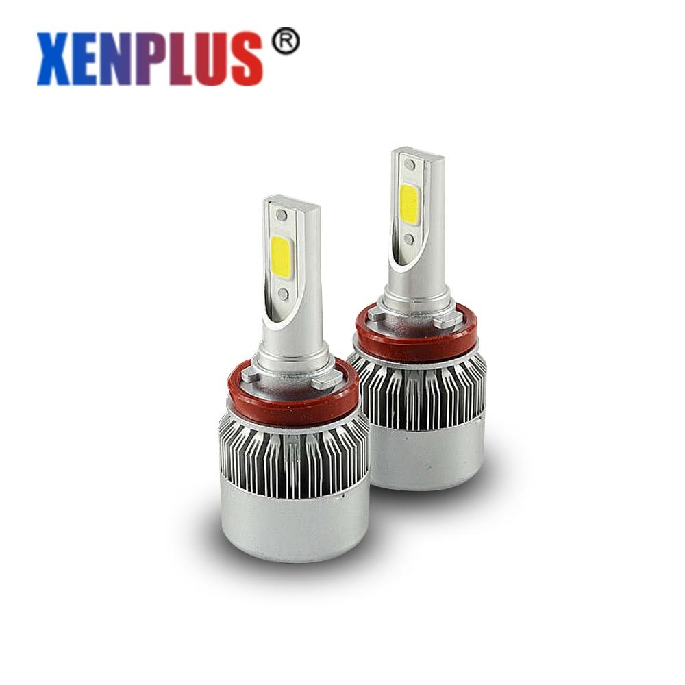 Xenplus 2 قطع h11 led مصباح المصباح 72 واط 7600lm - أضواء السيارة
