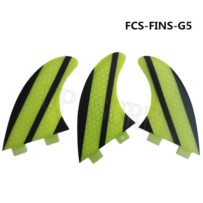 Νέο FCS πτερύγιο G5 μέλι χτένα κίτρινο FCS FINS Δωρεάν αποστολή