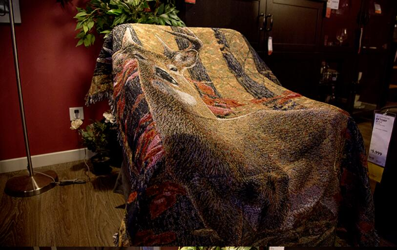 sofa covers low price leather for dogs leisure blanket american country decoration deer ...