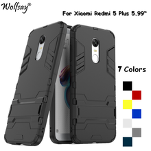 Xiaomi Redmi 5 Plus Case Redmi 5 Plus Cover Shockproof Robot Armor PC Silicone Phone Case sFor Xiaomi Redmi 5 Plus Cover 5.99