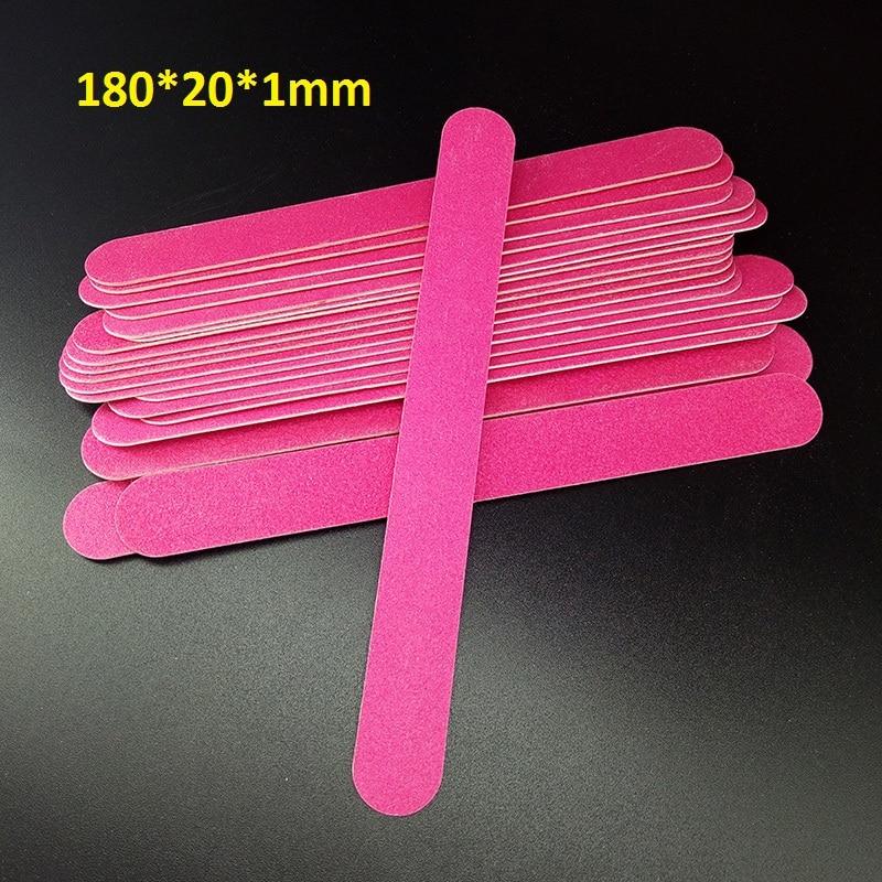 50pcs 180/180 Nail Files Wood Chips Nail Art File Nails Polish Tools Nail Accessories Blue Color Sanding File Buffer Block