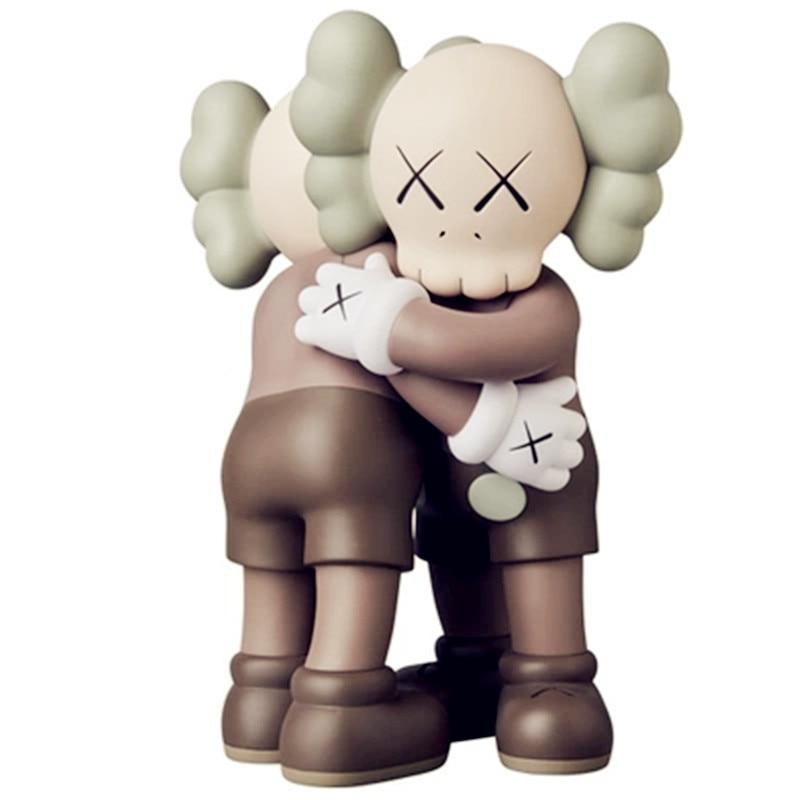New Medicom Toy kaws togerher doll hug doll kaws Original Fake Plastic Action Figures Kids Toys Gifts Baby with box