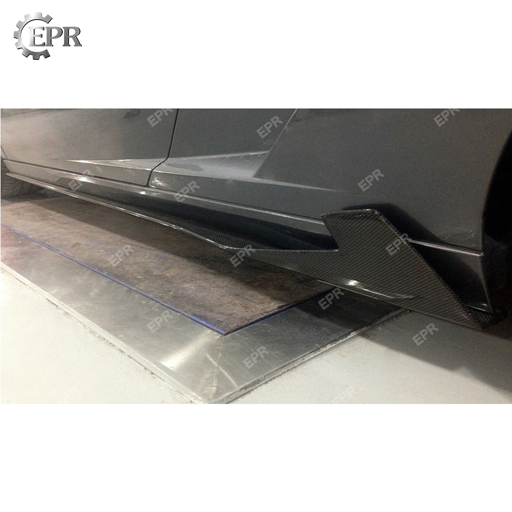 In Style; Carbon Fiber Side Skirt For Lamborghini Gallardo Lp550/lp560/lp570 Spe Side Skirt Extension Body Kits Tuning Trim Accessories Fashionable
