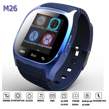 M26 Bluetooth watch wristwatch smart watch dial SMS Remind music player pedometer for Android IOS watch men women more language