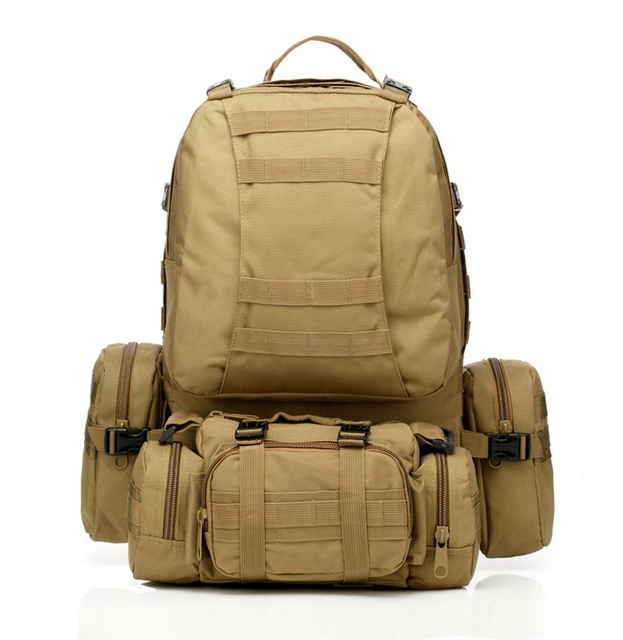 Travel kit 50L Molle Tactical Assault Outdoor Military Rucksacks Backpack Camping Bag Large 8 Color Hunting Gear 10-0003