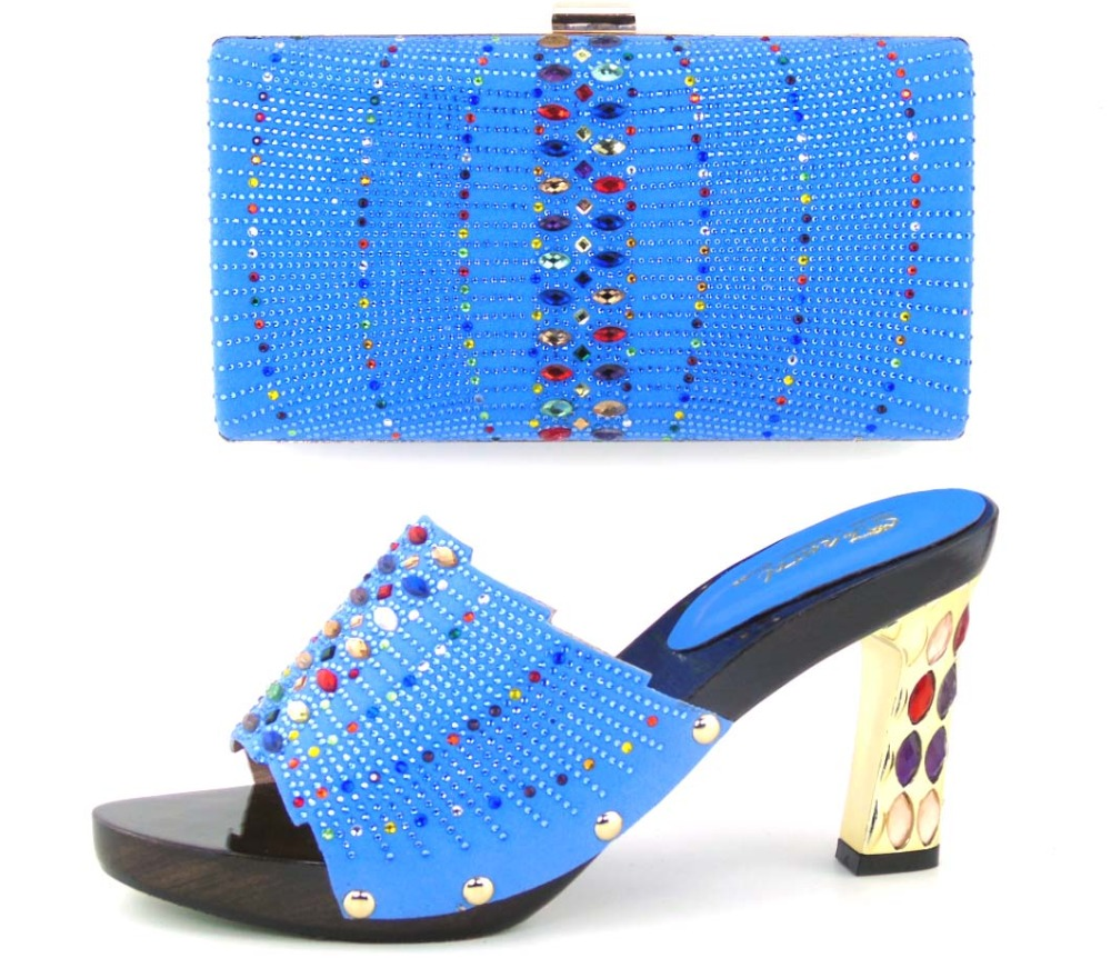Fashion Italian Ladies Shoe and font b Bag b font Set African Wedding Shoe and font