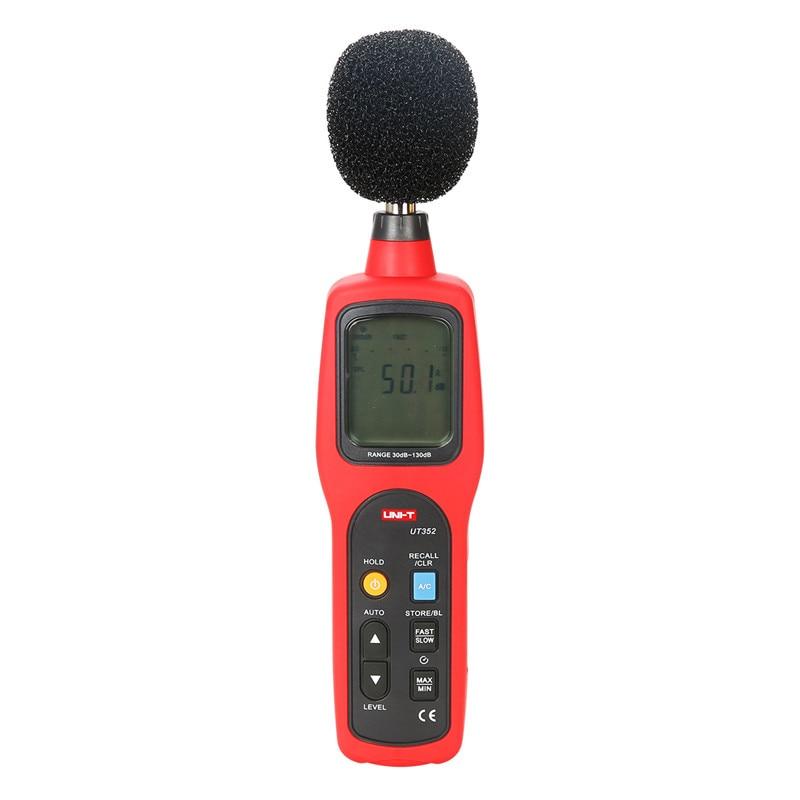 UNI-T UT352 Digital Sound Level Meter 30dB-130dB Decibel Meter Noise Monitor Tester w/ Data Logging & Recall Alarm Function uyigao ua824 digital decibel sound level meter noise meter tester with max min hold 30dba 130dba range measurement