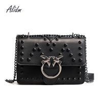 Rivet Crossbody Bag For Women Messenger Bags Handbags Women Bags Designer High Quality Leather Shoulder Sac