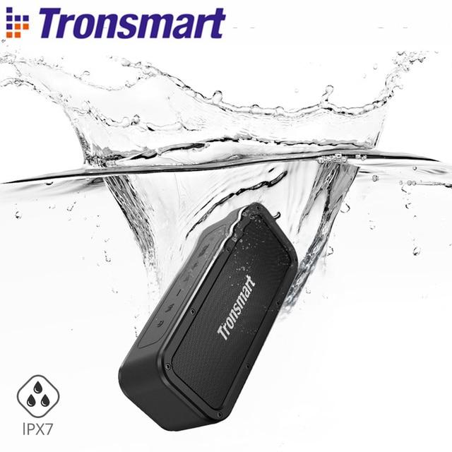 Tronsmart Force Portable Bluetooth Speaker IPX7 Waterproof Music Surround Outdoor Speaker 40W Microphone Loudspeaker for phones