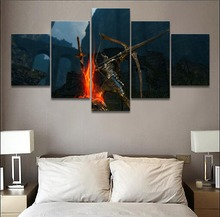 Dark Souls Bow Shoot Warrior Game 5 Pieces Print Poster Canvas Painting Wall Art Living Room HD Modern Home Decor